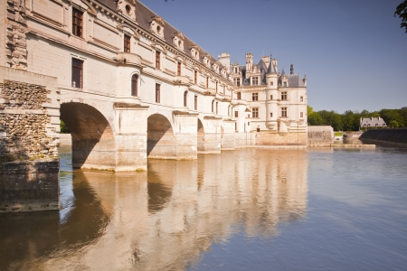 striding: Chateau Chenonceau striding across the river Cher.