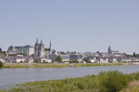 De stad Blois in de Loire in Frankrijk.