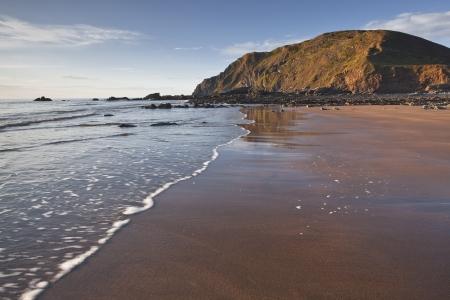 Welcombe Mouth op het noorden Devon kust van Engeland