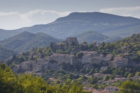 Montbrun Les Bains in the Drome department of Provence, France. Stock Photo