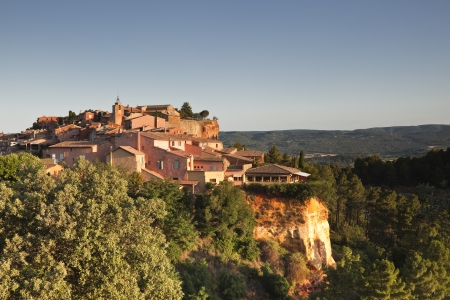 The village of Roussillon in Provence. photo