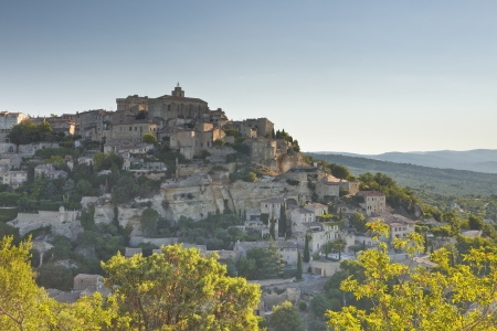 The hilltop village of Gordes in Provence. photo