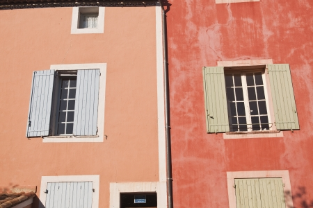 eacute: Houses in the village of Roussillon in Provence