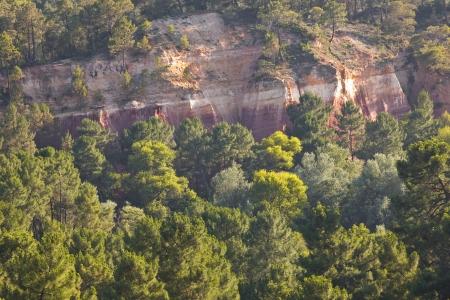 ochre: The famous ochre cliffs near to Roussillon
