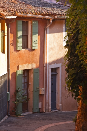 Houses in the village of Roussillon in Provence