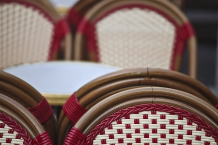 Cafe chairs in France. photo