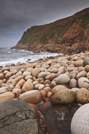 Porth Nanven beach in Cornwall. photo