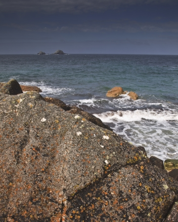 Porth Nanven beach in Cornwall. photo