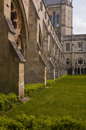 The cloisters of Salisbury cathedral in Wiltshire  photo