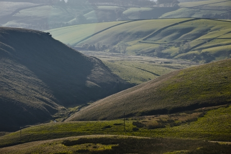 Looking towards Chest Hollow on the road near to the Cat and Fiddle in Derbyshire, Britains Second Highest Pub. photo