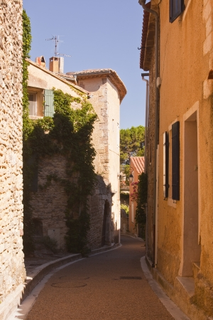 An old street in Venasque, Provence. photo