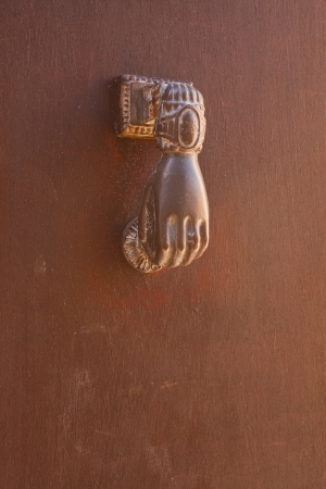 An old doorknocker in the village of Venasque in Provence. photo