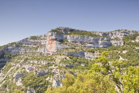 De Gorges de la Nesque in de Provence, Frankrijk. Stockfoto