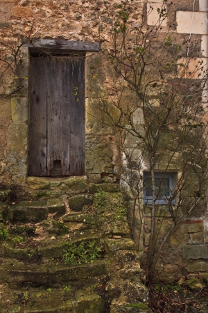 Detail shot of the village of Montresor in the Loire Valley. photo