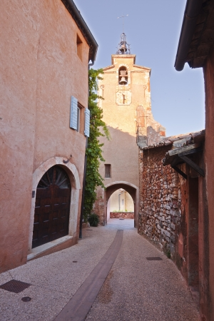 The clock tower in Roussillon