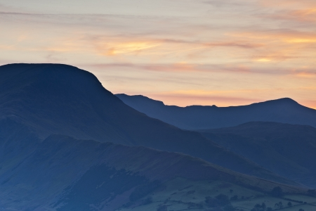 The fells above the Newlands Valley.