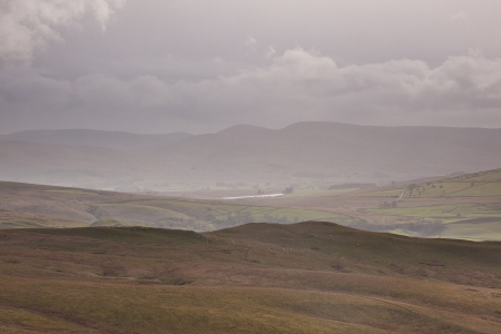 dales: Rain descends over the Yorkshire dales