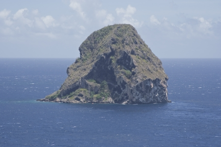 The Diamond Rock in Martinique  Stock Photo