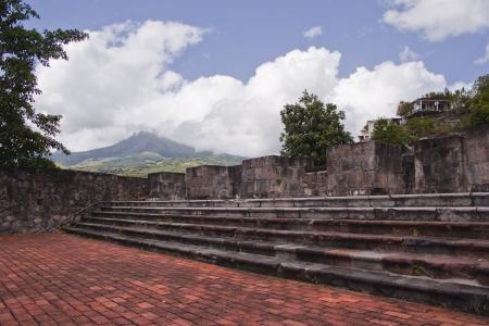 De ruïnes van Saint Pierre in Martinique
