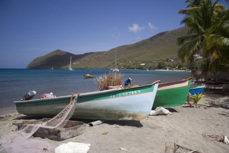 Oude boten op het eiland Martinique Stockfoto