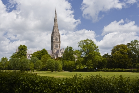 wiltshire: Salisbury cathedral in Wiltshire.