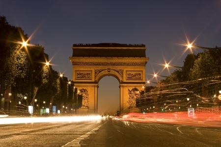 De Arc de Triomphe in Parijs.