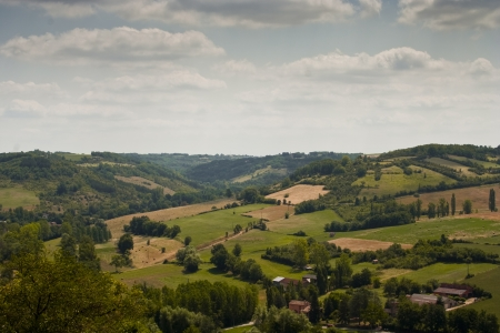 french countryside: Looking across the French countryside from Cordes-sur-Ciel. Stock Photo