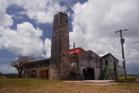 An old rum factory on the island of Marie Galante near Guadeloupe.