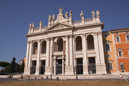 san giovanni al laterano church in Rome. Stock Photo