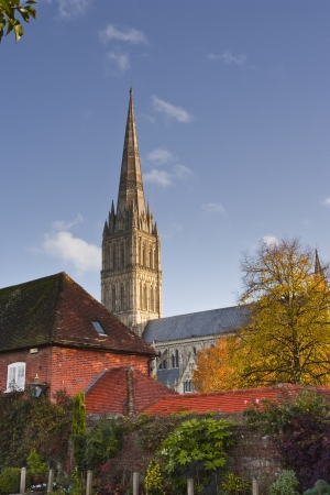 wiltshire: Salisbury cathedral in Wiltshire.