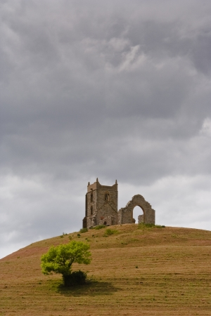The abandoned church of Burrow Mump in Somerset.