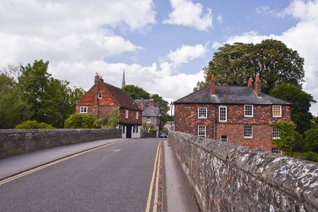 A street scene in Harnham, Salisbury, UK