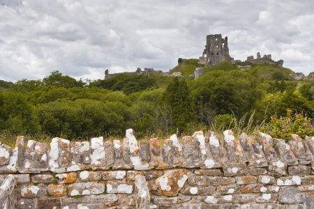 Corfe Castle in Dorset, Engeland Stockfoto