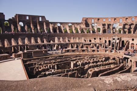 The roman colosseum in Rome, Italy