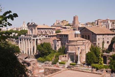 De roman forum in Rome, Italië
