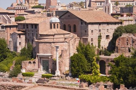 Het Romeinse forum in Rome, Italy Stockfoto