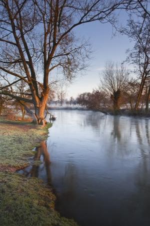 The river Avon flowing through Salisbury, England.