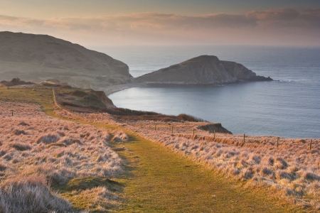 Worbarrow Bay en Tout op de kust van Dorset. Stockfoto