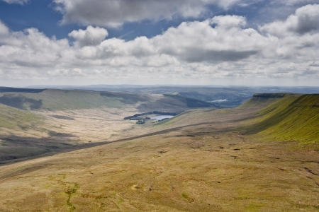 brecon beacons: The landscape of the Brecon Beacons in Wales, UK. Stock Photo