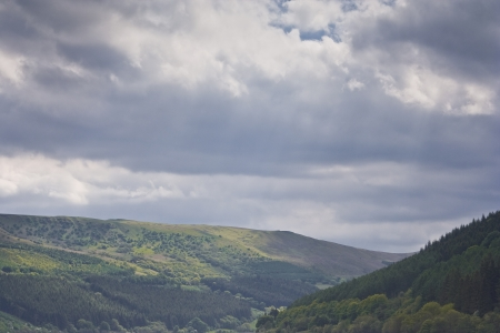 brecon beacons: The Brecon Beacons scenery in Wales, UK. Stock Photo