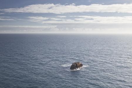 The Atlantic Ocean sen from the Cornish coastline. Stock Photo