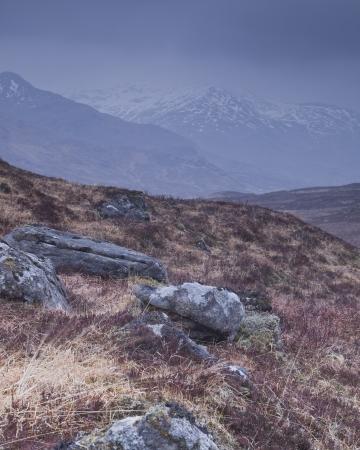 Glen Shiel in de hooglanden van Schotland.