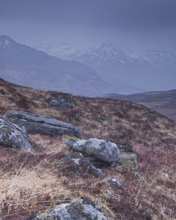 Glen Shiel in the Highlands of Scotland.