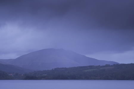 Derwent Water under heavy rain clouds in the Lake District national park. Stock Photo - 25101503
