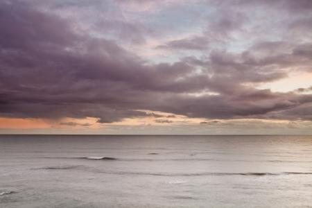 Storm skies off the coast of Lyme Regis, Dorset, England. Stock Photo