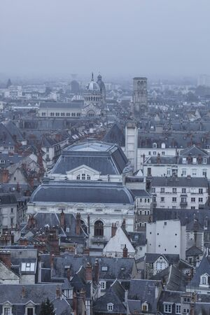 Elevated view of the city of Tours, France.