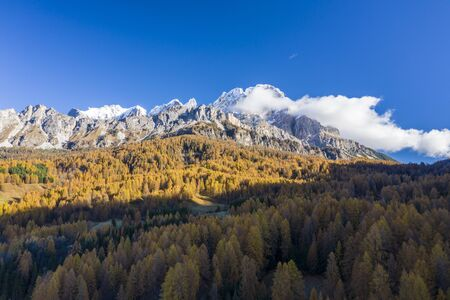 Autumn color in the Dolomites near to Cortina d'Ampezzo, Italy.