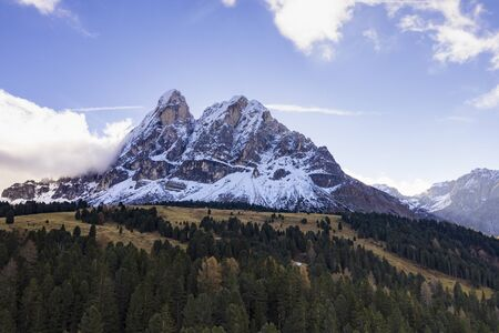 Beautiful mountain scenery in the Dolomite of northern Italy.