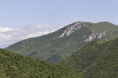 The high hills of Le Marche in central Italy.