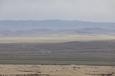 The vast wilderness of Khogno Khan national park, Mongolia.